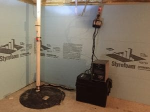 sump pumps are located in the basement of a house